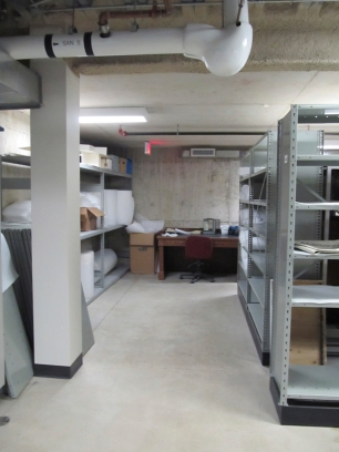The basement was extended and a new mechanical room, workshop and storage room were added